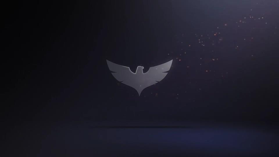 黑暗光芒闪耀金属质感logo片头Metal texture logo title