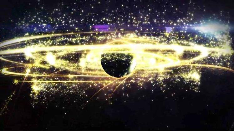 大气宇宙黑洞吸收渲染粒子LOGO