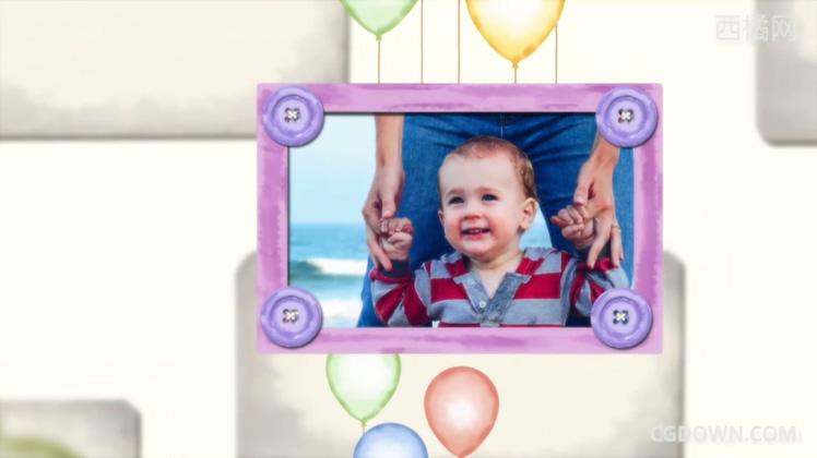 可爱家庭温馨孩子成长记忆怀念相册