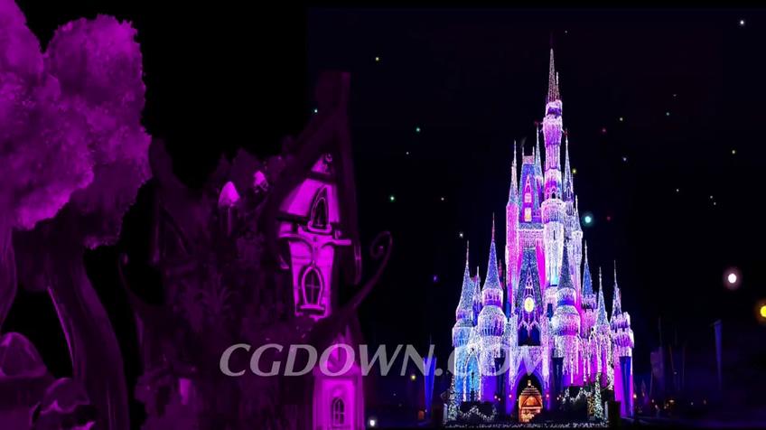 卡通,梦幻,城堡,情景剧所用到的卡通梦幻城堡背景视频素材
