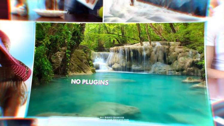 时尚,旅游,游记,多层,3d立体多层时尚旅游游记片头展示,免费视频素材