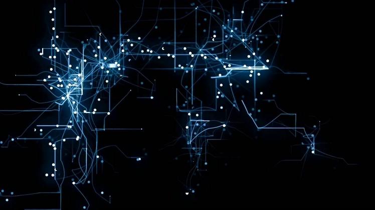 科技蓝色电路板线路高科技中央处理