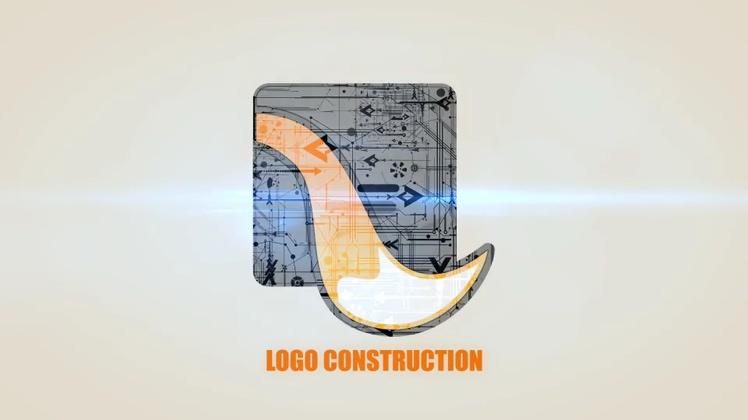 多种科技自媒体logo片头