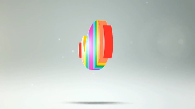 七彩七种颜色聚合时尚自媒体logo演绎