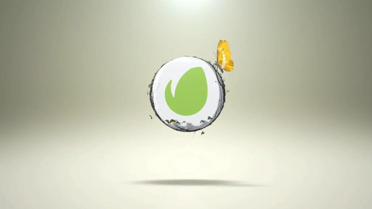蝴蝶飞舞3dlogo简单演绎