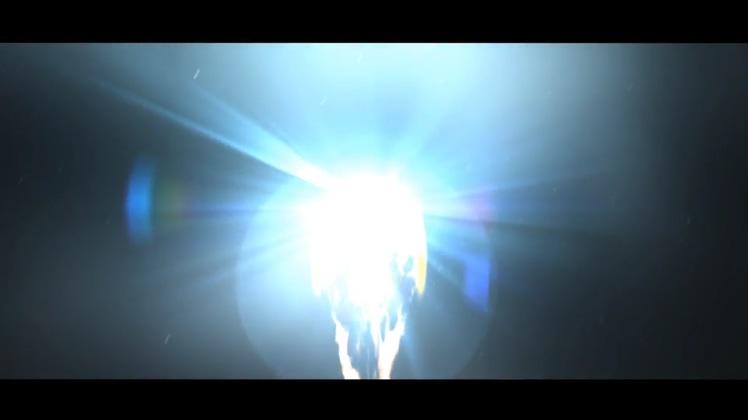炫酷直冲云霄穿越大气层燃烧蝙蝠呈现logo片头