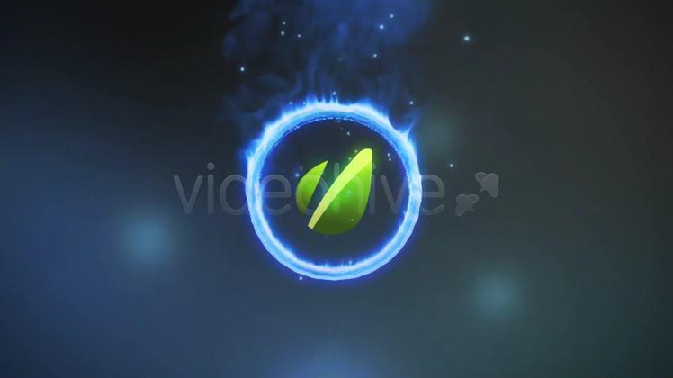 科技燃烧烟雾光环logo