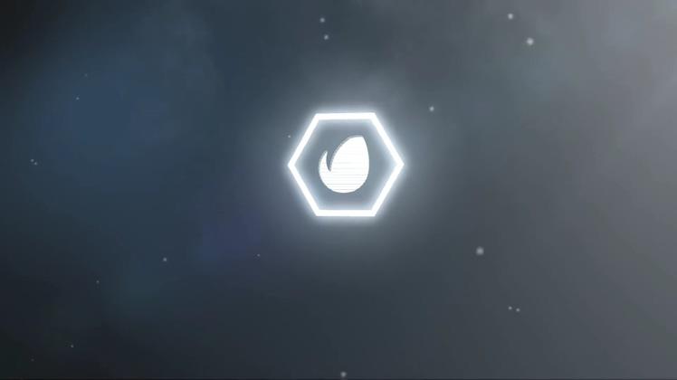 烟雾爆炸简洁logo片头