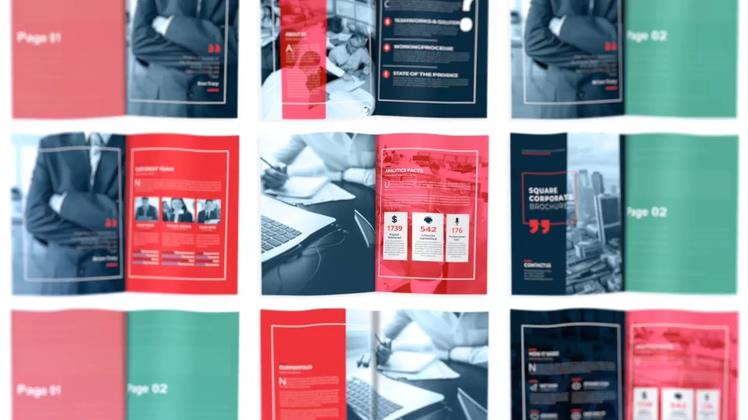 杂志,宣传,翻页,翻书,广告,时尚精美杂志翻书翻页效果dm介绍,免费视频素材