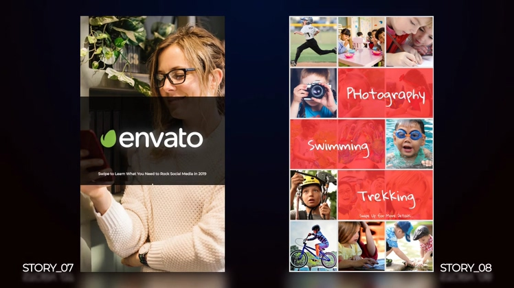 竖屏,竖版,相册,手机竖屏时尚相册片头展示视频素材