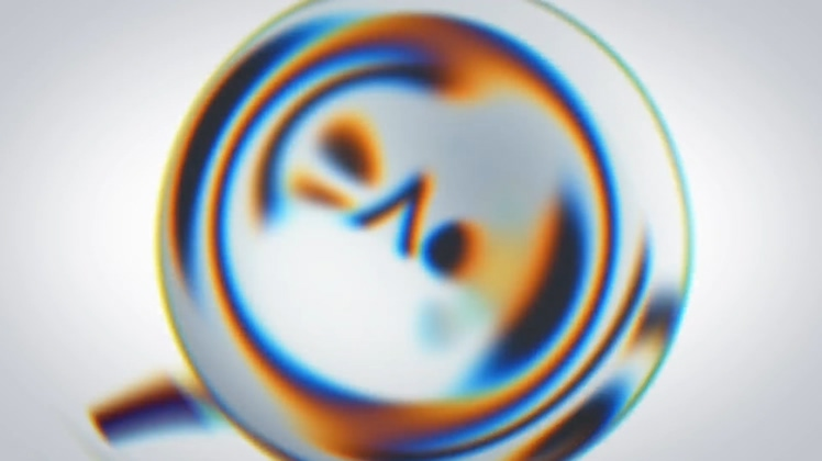 放大镜,宣传,特效,放大,拿着放大镜放大图形特效展示logo片头,免费视频素材