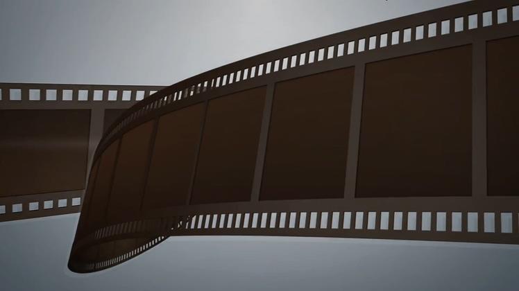 胶片,电影,电影放映胶片盘logo片头,免费视频素材