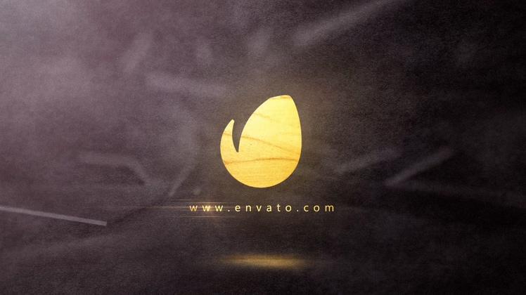 金色,油漆,笔刷,金色油漆笔刷特效logo片头视频素材