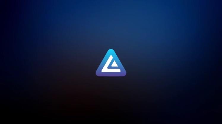 隧道,科技,穿越,科技多边形三角形隧道穿越科技logo片头视频素材