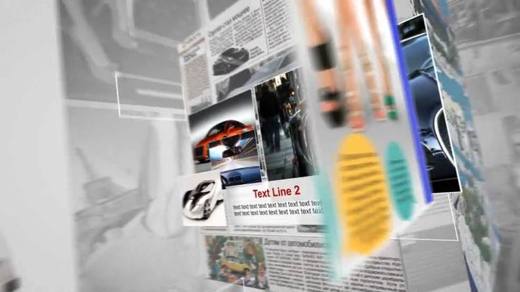 杂志,翻页,广告,杂志翻页介绍宣传时尚影像片头,免费视频素材