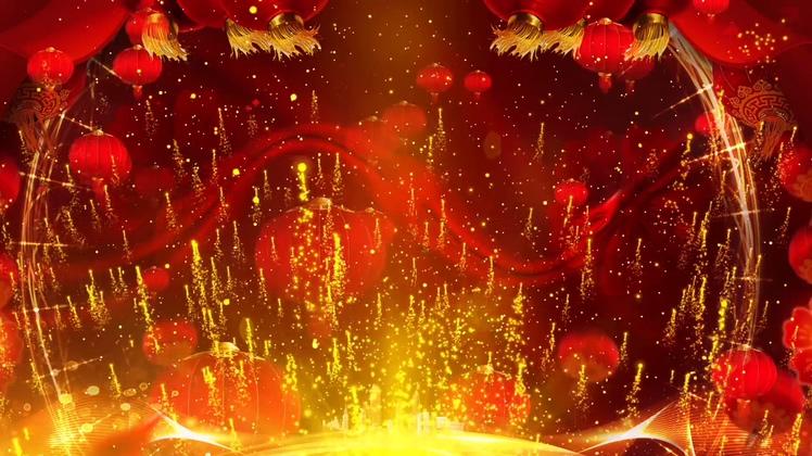 新年,礼花,粒子,灯笼,新年礼花粒子上升灯笼喜庆led,免费视频素材