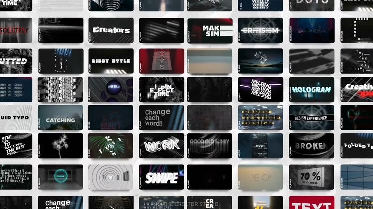 3d,文字,标题,立体,时尚,潮流,科技,网络,50种3d变换立体特效文字标题模板视频素材