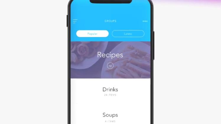 app,手机,宣传,苹果,iphone,iphoneX手机样式介绍你的app广告片头视频素材