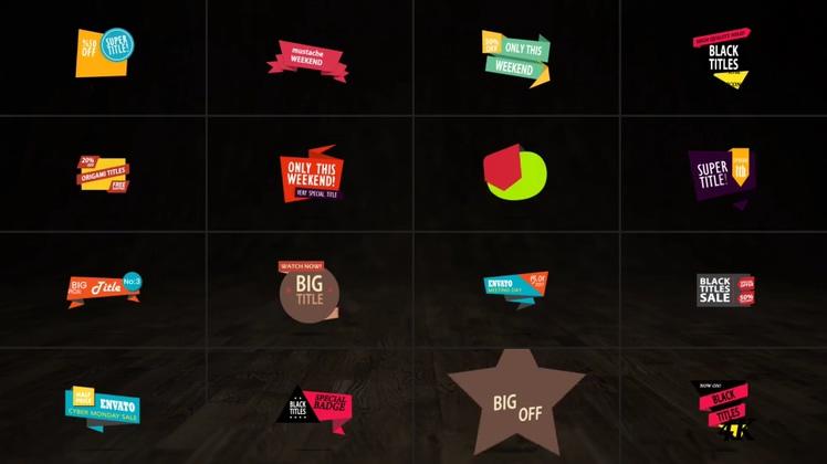 打折,促销,提示,标签,醒目,动态产品打折促销醒目提示标签AE模板,免费视频素材