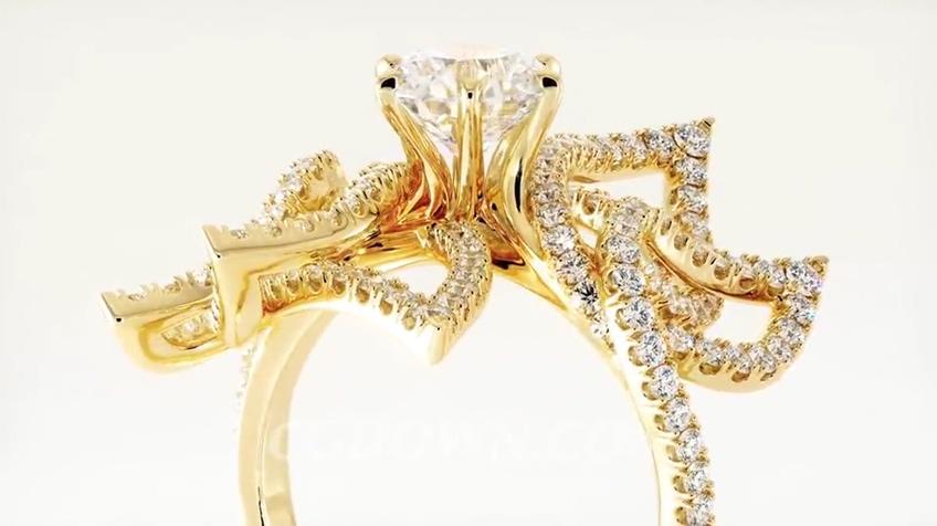 华丽尊贵璀璨满是钻石首饰拍摄