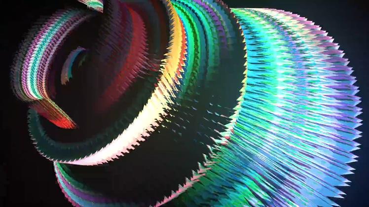 旋转,陀螺,光,动感绚丽旋转陀螺LED背景素材视频素材