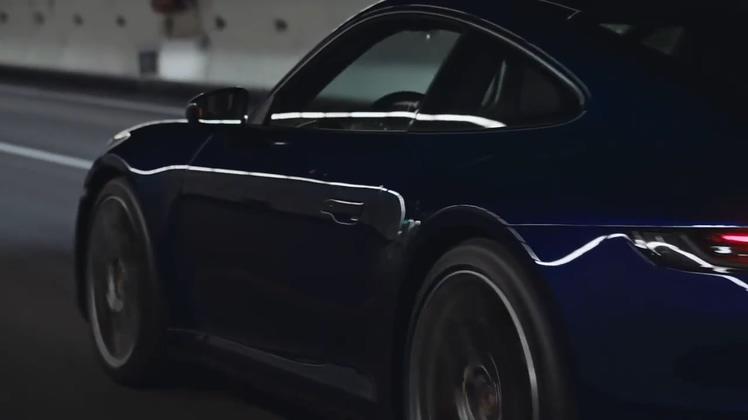 汽车,广告,保时捷,跑车,对称,保时捷2020款911炫酷广告宣传片视频素材