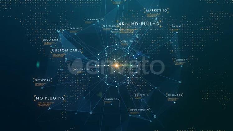 科技,商务,业务,点线,链接,科技商务业务介绍点线连接宣传片头,免费视频素材