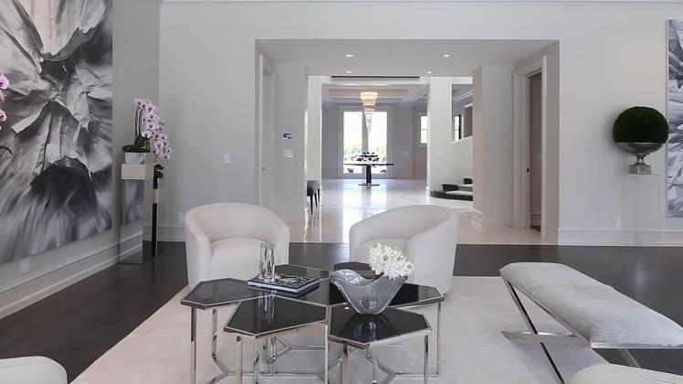 华丽的现代风格美国洛杉矶豪宅高清无水印实拍视频素材