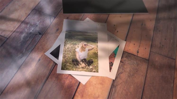 树荫效果下的记忆写实相册片头