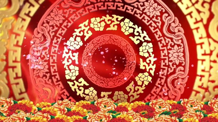 2019中国风格新春庆祝贺喜通用视频素材
