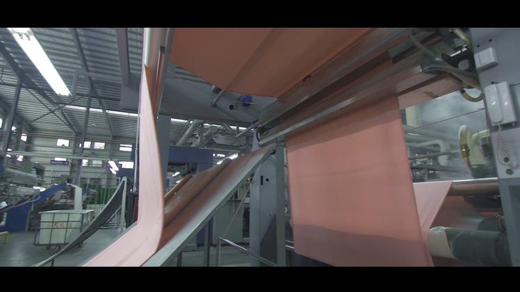 织布家纺染料布料生产视频素材