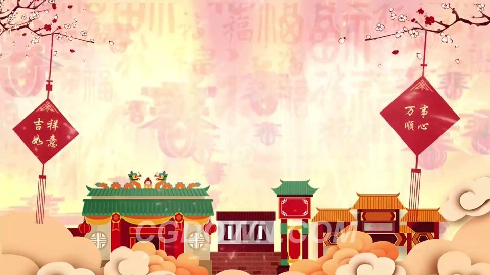 2019中国新年喜庆背景视频素材