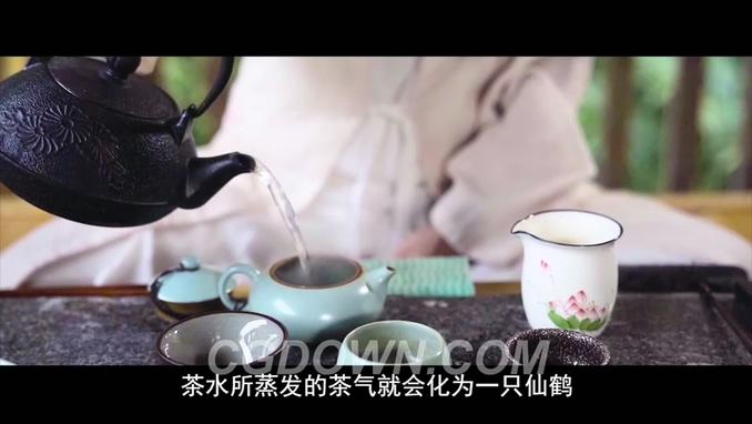 优美国风茶叶采摘制茶视频素材