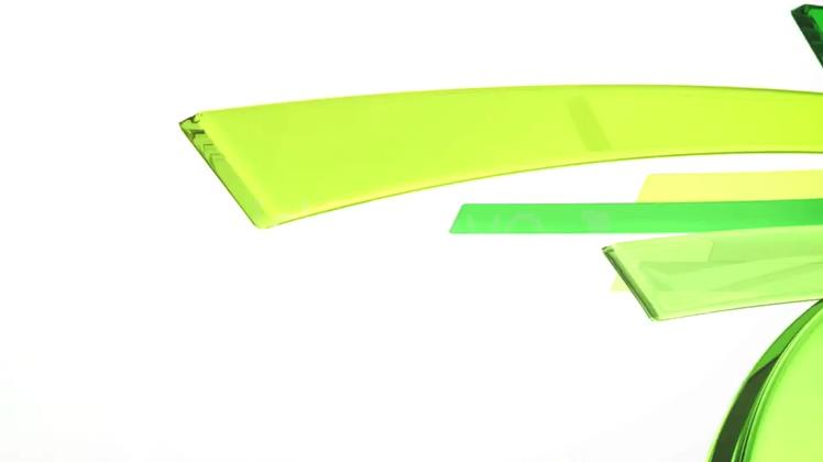 玻璃亚克力玻璃彩条logo演绎
