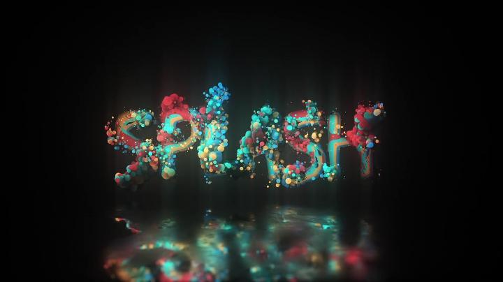 泡沫粒子聚合logo片头