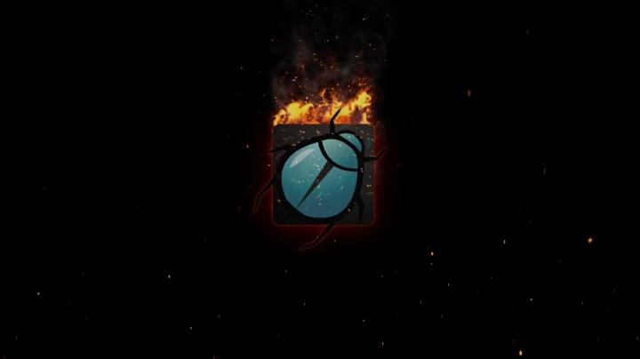 炽热火焰火苗燃烧logo片头