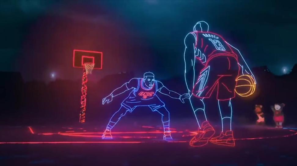 用AE制作像NBA一样的发亮线条CG资源