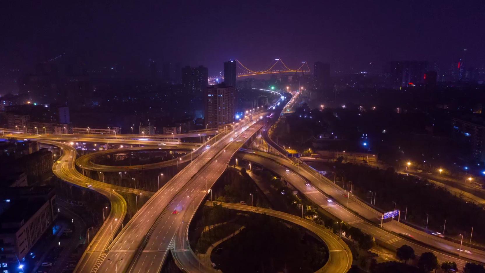 武昌,火车站,航拍,延时,车流,经济,城市,交通视频素材