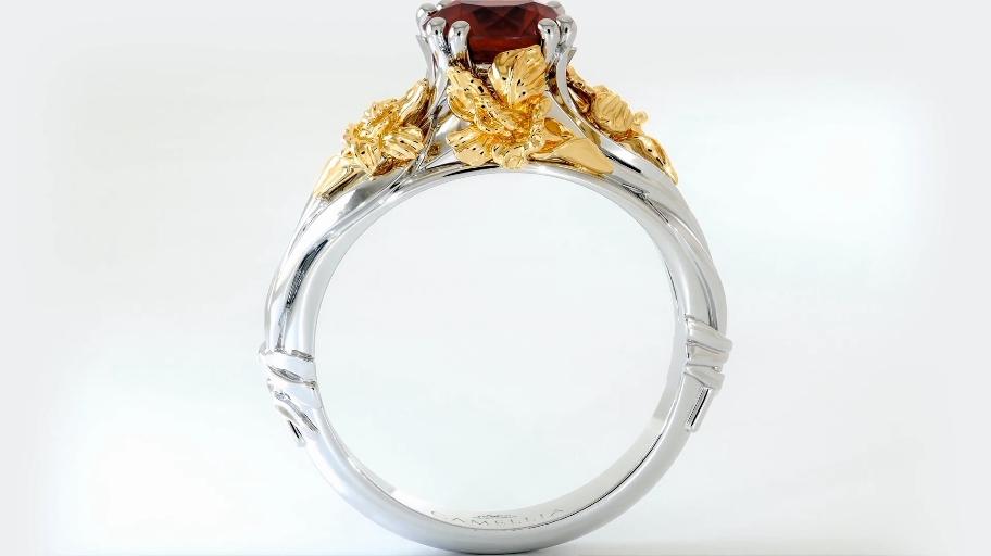 华丽精美奢华珠宝钻石宝石戒指