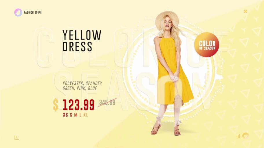 时尚青春潮流服装店铺促销宣传AE模板