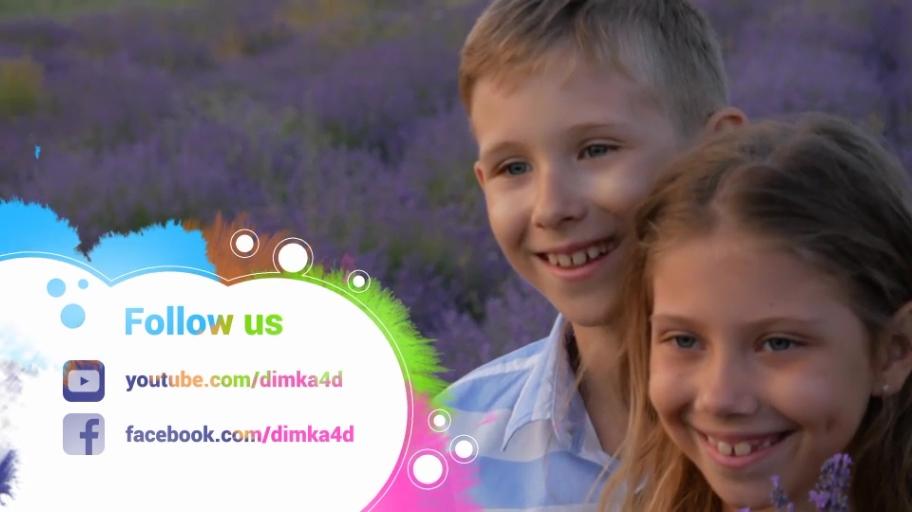 儿童节目栏目颜料水彩晕染转场片头免费下载