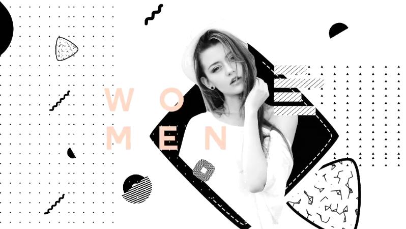 时尚黑白服装潮流风格宣传片头