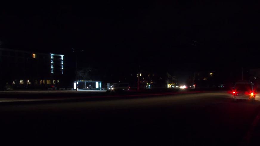 非常快速车流灯光延时拍摄