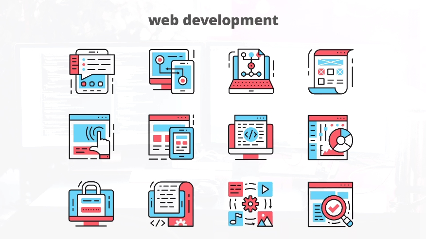 网页设计推广元素动态图标AE模板