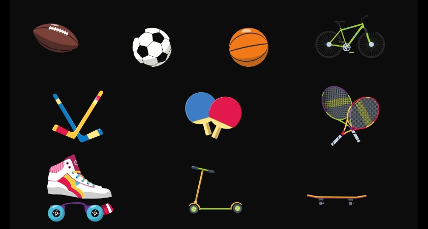 动漫卡通体育运动娱乐用品透明通道视频素材