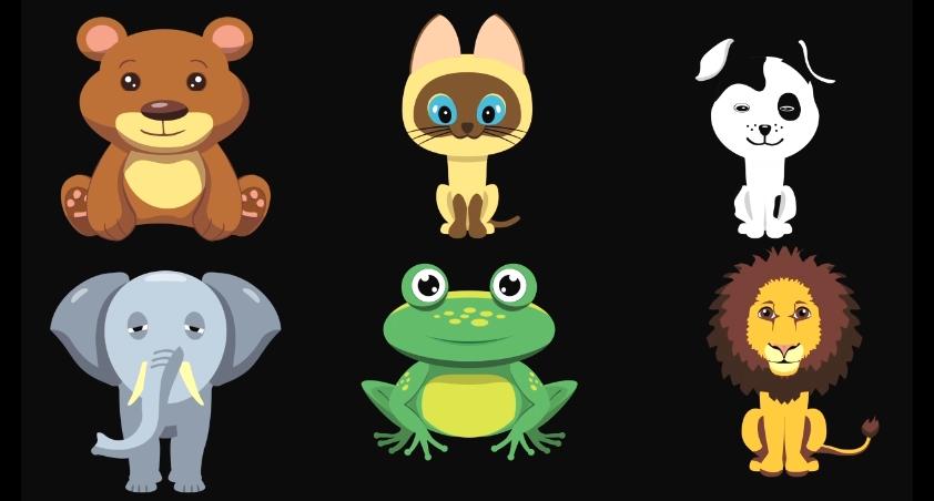 动漫卡通可爱动物透明通道视频素材