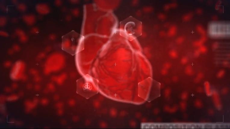 科技生物医学心脏跳动片头