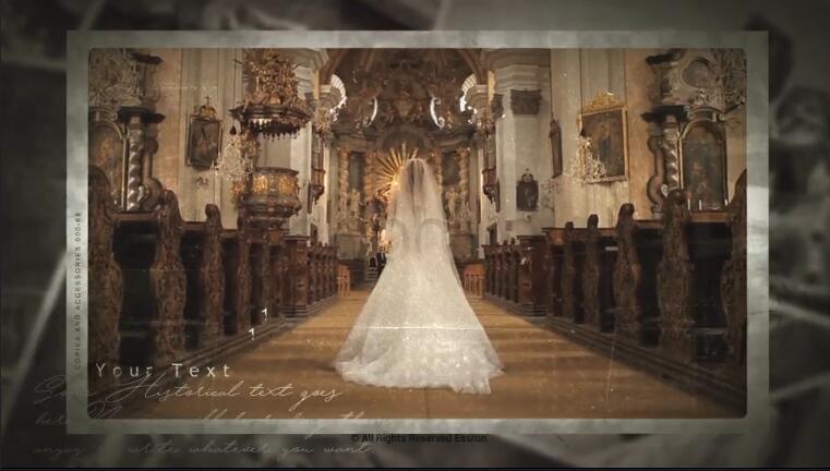 复古历史多层照片记忆相册展示
