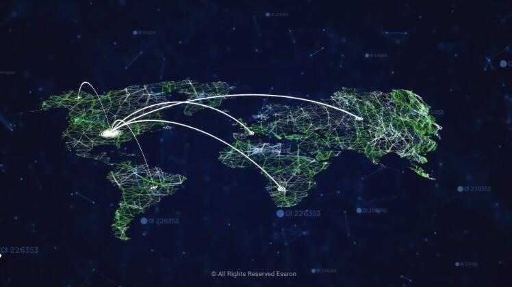 科技蓝色业务网络遍布全球广告