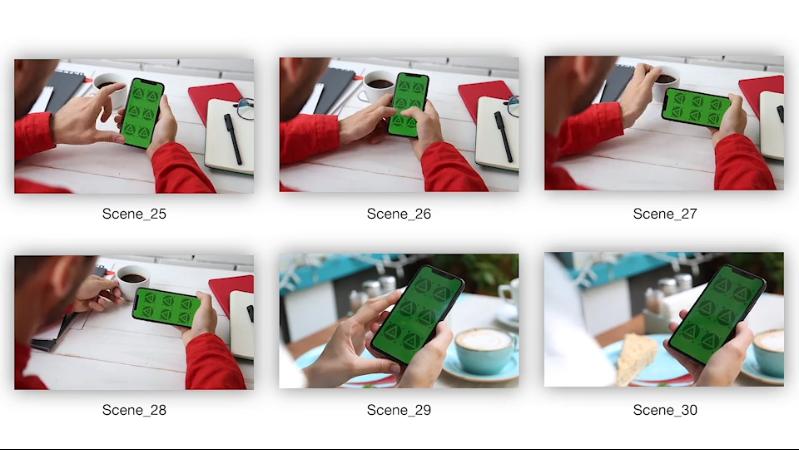 多种苹果手机安卓手机人物场景展现宣传你的APP